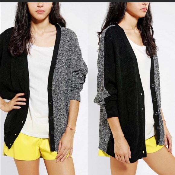 6ef2291ad5 Urban Outfitters Sweaters - Sparkle   Fade cable knit black sweater cardigan  S
